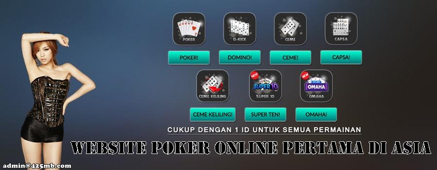 Website Poker Online Pertama Di Asia